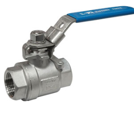 Alloy 20 2 pc screwed ball valve 1