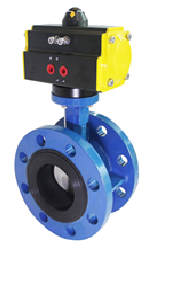 Pneumatic Actuated Flanged Butterfly Valve